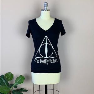 Black Harry Potter The Deathly Hollows Tee size S